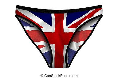 bandera inglesa, bragas