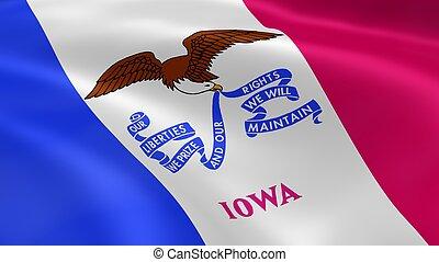 bandera, iowan, viento