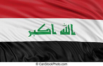bandera, irak, 3d