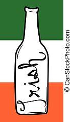 bandera irlandesa, cerveza