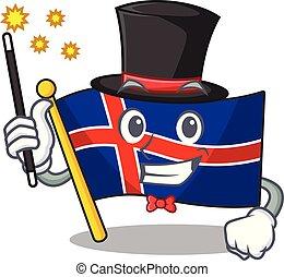 bandera, islandia, magik, formułować, rysunek