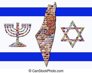 bandera, izrael
