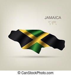 bandera jamaica, país