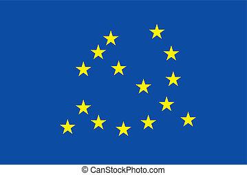 bandera, komunizm, symbol, euro