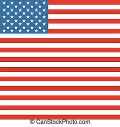 bandera, lipiec, amerykanka, kwarta