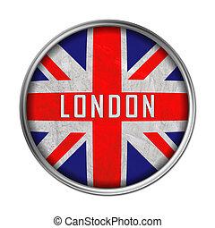 bandera, londyn, guzik