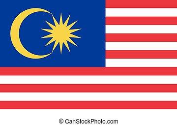 bandera malasia, ilustración