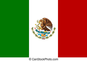 bandera, meksyk