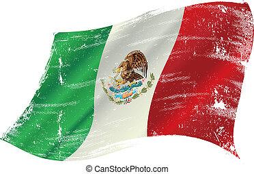 bandera mexicana, grunge