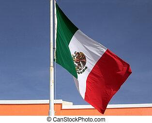bandera, mexicano