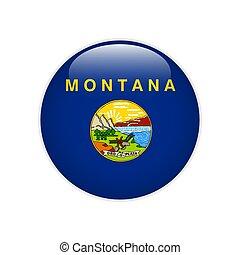 bandera, montana, botón