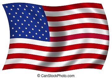 bandera nacional, de, el, estados unidos de américa