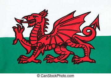 bandera nacional, de, gales