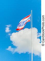 bandera nacional, de, tailandia