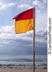bandera, natación