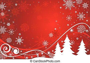 bandera, navidad, rojo