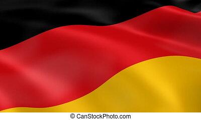 bandera, niemcy, wiatr