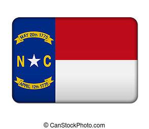 bandera, norte, botón, carolina