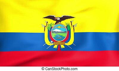 bandera, od, ekwador