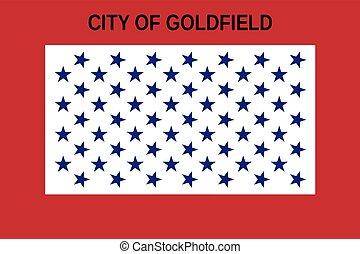 bandera, od, goldfield, kolorado, usa., wektor, format