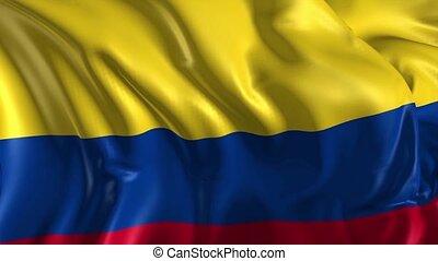 bandera, od, kolumbia