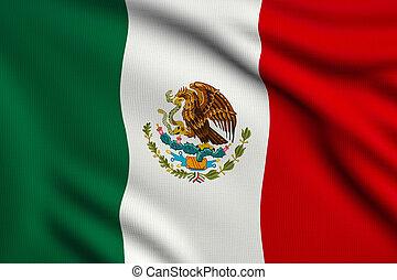 bandera, od, meksyk