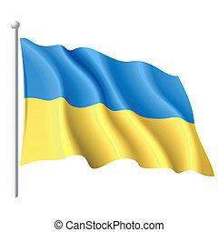 bandera, od, ukraina