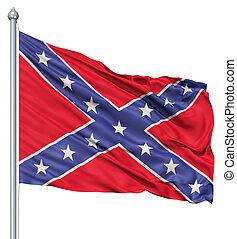 bandera ondeante, confederado
