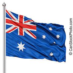 bandera ondeante, de, australia