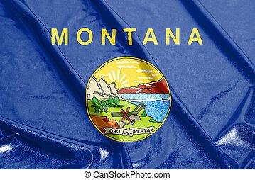 bandera ondeante, de, montana, u..s.., bandera del estado