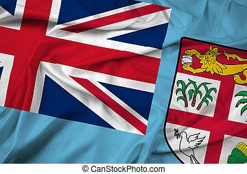 bandera ondeante, fiji