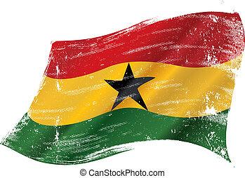 bandera ondeante, grunge, ghanés