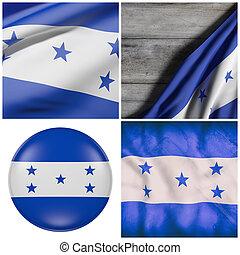 bandera ondeante, honduras
