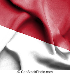 bandera ondeante, indonesia
