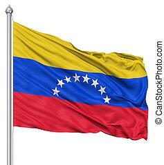bandera ondeante, venezuela