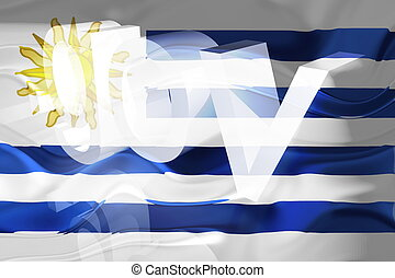 bandera, ondulado, uruguay, gobierno