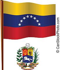 bandera, ondulado,  venezuela