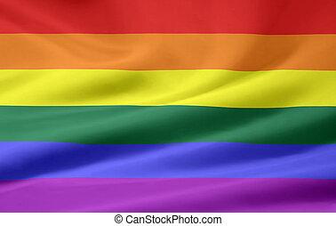 bandera, orgullo, alegre