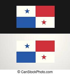 bandera, panamá, diseño, bandera