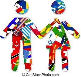 bandera, pareja