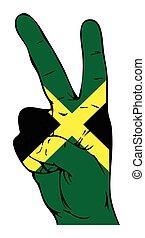 bandera, paz, jamaiquino, señal