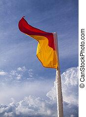 bandera, playa