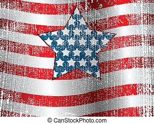 bandera, projektować, usa