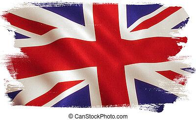 bandera, reino unido, británico