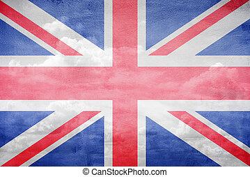 bandera reino unido, ilustración