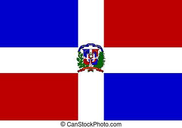 bandera, republika, dominikański