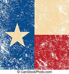 bandera, retro, tejas