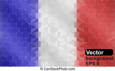 bandera, robiony, formułować, francuski, geometryczny