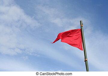 bandera, rojo