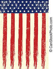 bandera, scrathed, estados unidos de américa